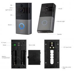 Ip Wireless Doorbell With Camera And Night Vision