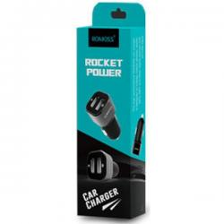 Romoss Car Charger Rocket Power 2usb 2.4a Am12